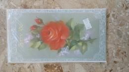 Carte Double - Bonne Fête - ROSE ROUGE - FLEURS - Non Classés