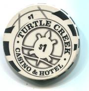 Turtle Creek Casino Williamsburg Michigan $1 Gaming Chip - Casino