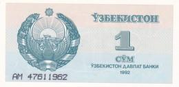 UZBEKISTAN  1 SUM  1992  FDS - Uzbekistan