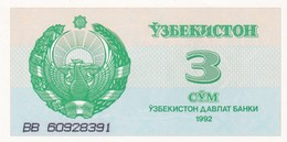 UZBEKISTAN  3 SUM  1992  FDS - Uzbekistan