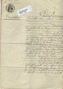 VP7779 - VILLENEUVE SUR LOT -  Acte De 1868 - Transaction Entre IMBERT & Ses Soeurs à CASTELLA &  PUJOLS - Manuscripts