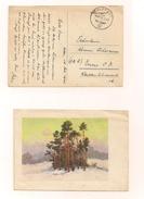 Feldpostkarte (AK) Samt Inhalt 16.2.1945 Nach Enns - Covers & Documents