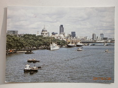 Postcard London St Pauls Cathedral From River Thames My Ref B2104 - St. Paul's Cathedral