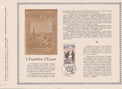 FEUILLET  NAPOLEON EXPEDITION D'EGYPTE PAC - Napoleon