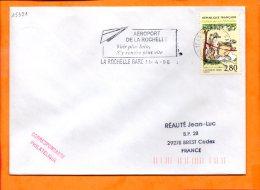 CHARENTE-MME, La Rochelle, Flamme SCOTEM N° 15321, Aéroport De La Rochelle - Oblitérations Mécaniques (flammes)
