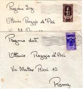 ITALIA  Trieste   Storia Postale   Lotto Di 2 Buste   Di Trieste  Sopr.   AMGFTT   Commemorativi - Storia Postale