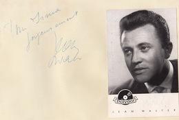 Autographe De Jean Walter