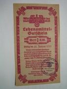 WHW-Lebensmittel-Gutschein 1935, Gau 14 Magdeburg-Anhalt, Selten! - Documents
