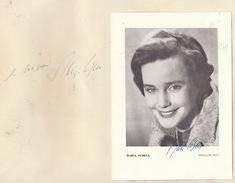 Autographe De Maria Schell