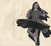Autographe De Tanya Et Eddie Constantine