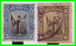 NICARAGUA  2  SELLOS   AÑO 1912 - Nicaragua