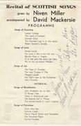 Autographe De David Mackersie - Autographs