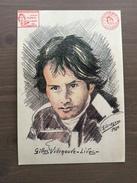 """Cartolina In Bianco Del 1993 """"Gilles Villeneuve Lives"""", Da Un Disegno Di Giuseppe Scorzoni Del 1980 - Grand Prix / F1"""