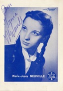 Autographe De Marie Josée Neuville - Autographs