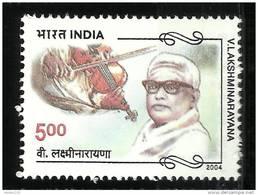 INDIA, 2004,  V  Lakshminarayana, (Musician And Composer),  MNH, (**)
