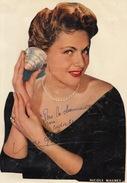 Autographe De Nicole Maurey
