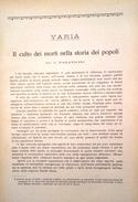 1931 CULTO DEI MORTI PARAVICINI G. IL CULTO DEI MORTI NELLA STORIA DEI POPOLI Estratto Da Rassegna Di Clinica, Terapia E - Libri, Riviste, Fumetti
