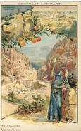CPA (publicité B 12 ) CHOCOLAT LOMBART  (  Nos Colonies Algerie Et Tunisie ) - Publicidad