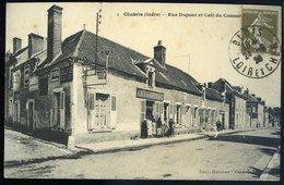 Cpa Du 36  Chabris Rue Dupont Et Café Du Commerce   NCL38 - France