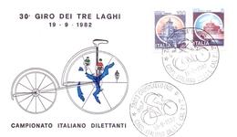 CRUSINALLO  (NO) CAMP. ITALIANO DILETTANTI CAT. 1°-2° 1982 GIRO DEI 3 LAGHI 2 PIECES (GEN170054-57) - Ciclismo