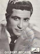Autographe De Gilbert Bécaud - Autographes