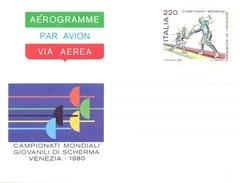 STRESA (NO) MOSTRA FILATELICA EUROPEAN AEROGRAMME WORD CHAMPIONSHIP VENEZIA 1981 (GEN170059) - Scherma