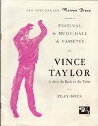 Programme Vince Taylor Le Dieu Du Rock Et Du Twist Et Ses Play Boys - Affiches & Posters