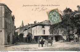 BAGNOLS Sur CEZE  -  Place De La Poulagière ( Carte Remise En Vente Suite à Non Paiement) - Bagnols-sur-Cèze