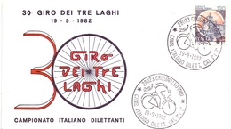 CRUSINALLO  (NO) CAMP. ITALIANO DILETTANTI CAT. 1°-2° 1982 GIRO DEI 3 LAGHI 2 PIECES (GEN170060) - Ciclismo
