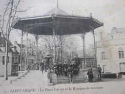1902 Précurseur CPA Imprimé 18 Cher  Saint-Amand-Montrond Le Kiosque à Musique Carte Postale France - Saint-Amand-Montrond