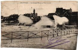 CPA - GRANVILLE - La Grande Marée Au Pont Jacques - Granville