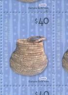 CESTO CULTURA SELK´NAM VALOR FACIAL $ 40.-   REPUBLICA  ARGENTINA   ARCHEOLOGIA ARQUEOLOGIA ARCHEOLOGY - Neufs
