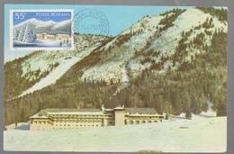TOURISM  HOLDAYS   MAXIMUM  CARD ROMANIA 1971 CACNEL POAIAN BRASOVTOURISME  MOUNTAIN -CITY BRASOV HOTEL`S   ROMANIA - Maximumkarten (MC)