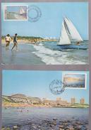 TOURISM MAXIMUM CARD ROMANIA 1981 BEACH OLIMP AND NEPTUN,COUNTY CONSTANTA CANCEL SPECIAL FIRST DAY - Maximumkarten (MC)
