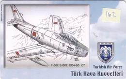Turkey, TR-C-162, Turkish Air Force, F-86E Sabre 1954-68, Airplane, 2 Scans. - Türkei