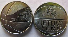 LITUANIA LITHUANIA 2011 1 LITAS CAMPIONATI EUROPEI BASKETBALL FDC UNC - Lithuania