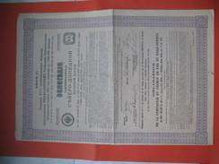 Gouvernement Impérial De Russie, Compagnie Du Chemin De Fer Du Nord-Donetz Emprunt   4 1/2 %  De 1914  N° 0980880 - Chemin De Fer & Tramway