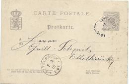 Nr. 39 - Larochette, Ginter Nach Ettelbrück, Guill. Schmit - 07-03-1881 - Stamped Stationery