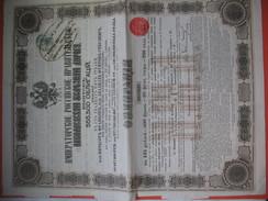 Gouvernement Impérial De Russie, Compagnie Du Chemin De Fer Du Nicolas N° 614829 Et 090996 Du Nord-Donetz - Chemin De Fer & Tramway