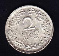 ALLEMAGNE, KM 45, AU, 2RM, 1925 D. ( OP21) - [ 3] 1918-1933 : Weimar Republic