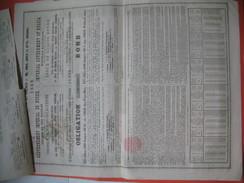 Gouvernement Impérial De Russie, Compagnie Du Chemin De Fer Du Nicolas N° 614830 Et 614831 - Chemin De Fer & Tramway