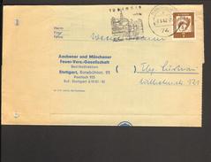 BRD Bedeutende Deutsche 7 Pfg.Mi.Nr.348x Auf Drucksache Aus Tübingen V.1962 Feuer-Versicherung - [7] Federal Republic