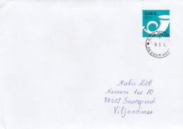 GOOD ESTONIA Postal Cover To ESTONIA 2017 - Good Stamped: Posthorn - Estonia