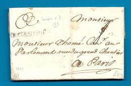 Hautes Alpes - Briancon Pour Paris; LAC De 1733. MP Lenain N°3. Indice 22=550euros !! - 1701-1800: Précurseurs XVIII