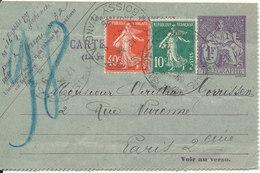France Carte Pneumatiques Uprated Telegraphe And Sent 1926