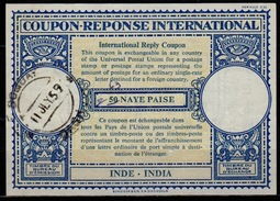 INDE / INDIA London Type XVIn 63 / 50 NAYE PAISE Int. Reply Coupon Reponse Antwortschein IRC IAS  O BOMBAY 11.7.59 - Briefe