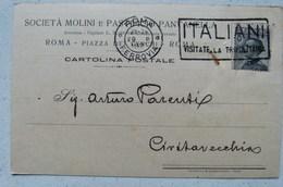 ROMA - SOCIETA' MOLINI E PASTIFICIO PANTANELLA - PIAZZA DEI CERCHI 1927 X CIVITAVECCHIA - Non Classificati