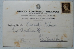 ROMA - UFFICIO CONTROLLO FORMAGGI - SEZIONE TECNICA STACCATA 1941 X CIVITAVECCHIA - Non Classificati