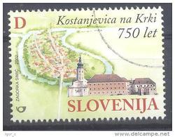 Slowenien Slovenia Slovenie 2002 Used CTO; Kostanjevica Monastery Art Galery - 750 Anniversarry Of The City - Ferien & Tourismus