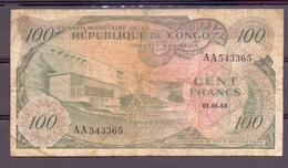 Congo Kongo Conseil Monetaire  100 Fr 1963 - Banknotes